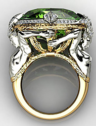 cheap -Ring AAA Cubic Zirconia Mixed Color Gold Brass Fish Gothic 1pc 6 7 8 9 10 / Women's