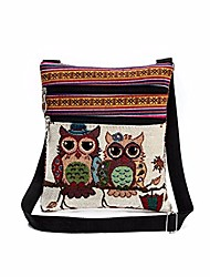 cheap -women shoulder bags,  2018 new embroidered owl tote bags women shoulder bag handbags postman package (a)