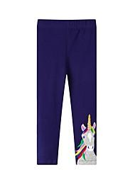 cheap -Kids Girls' Basic Horse Solid Colored Print Leggings Blue