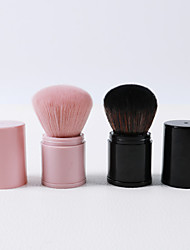 cheap -Single Retractable Two-color Makeup Brush Large Loose Powder Brush Blush Brush Black Pink Portable Makeup Brush Beauty Tool