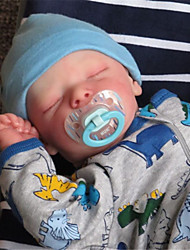 cheap -17.5 inch Reborn Doll Baby & Toddler Toy Reborn Baby Doll Twins A Newborn lifelike Hand Made Simulation Floppy Head Cloth Silicone Vinyl with Clothes and Accessories for Girls' Birthday and Festival