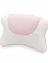cheap -luxurious bath pillow, bath pillows for tub, bath tub head neck and back support with 4 suction cups washable spa pillow (pink)