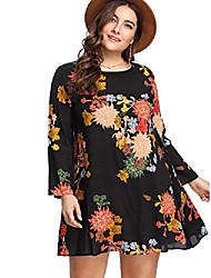 cheap -women's plus size boho bohemian tribal print summer beach tunic dress multicolor 1xl