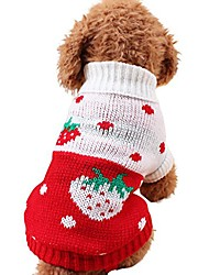 cheap -small dogs pet soft puppies sweater clothes (hot pink)