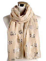 cheap -Women's Christmas Rectangle Scarf - Graphic Washable