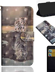 cheap -Case For Nokia 1.3 Nokia 2.3 Nokia 5.3 Wallet Card Holder with Stand Full Body Cases Cat Tiger PU Leather TPU for Nokia 3.2 Nokia 7.2 Nokia 2.2 Nokia 4.2 Nokia 1 Plus