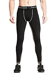 رخيصةأون -سروال ضغط للرجال ، كولون رياضي بطبقة أساسية وجافة ، سروال رياضي للجري واللياقة البدنية قابل للتنفس