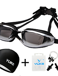 cheap -Swimming Goggles Waterproof Anti-Fog Prescription UV Protection Mirrored Plated For Adults PVC Polycarbonate N / A Silver