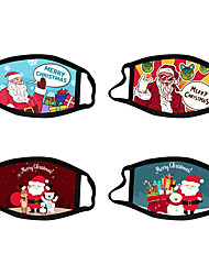 cheap -Christmas Mask Washable Cartoon Cotton Cloth Mask Santa Claus Mask Fashion Adult Face Mask Washable Polyester