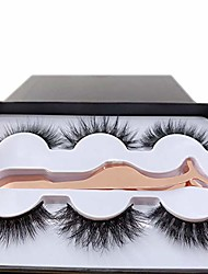 cheap -acrown 3 styles fluffy mink eyelashes 100% siberian wholesale&bulk lashes set (8 pack)