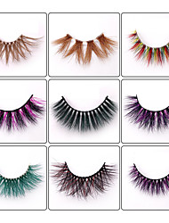 cheap -1 Pair Eyelash Extensions Kits Casual Daily Others Daily Wear Thick Makeup Daily Makeup Fashion Cosmetic Grooming Supplies Mink Hair Color False Eyelashes Stage Makeup Masquerade Halloween