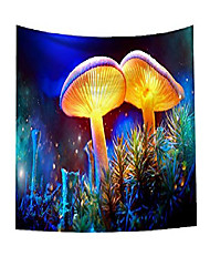 cheap -psychedelic mushroom tapestry forest trippy landscape wall decor tapestries,mushrooms in sky fantasy nature theme earth path mystical image,wall hanging for bedroom living room dorm