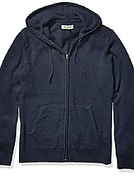 cheap -amazon brand - men's supersoft marled fullzip hoodie sweater, navy xxx-large tall
