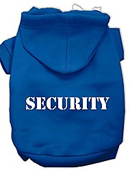 cheap -security screen print pet hoodies, size 14, blue
