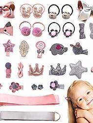 cheap -36pcs baby girls hair clips elastic ties cute hair bows claw clip for toddler hair accessories gift box set
