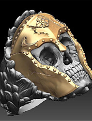 cheap -Ring Classic Gold Copper Gold Plated Skull Fashion 1pc 9 10 11 12 / Men's