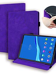cheap -Case For Lenovo Tab M8 HD TB-8505F X Tab M8 FHD TB-8705F N Card Holder Flip Full Body Cases Solid Colored PU Leather