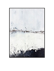 cheap -Oil Painting Hand Painted Vertical Abstract Landscape Comtemporary Modern Rolled Canvas (No Frame)