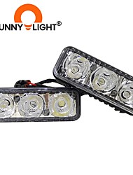 cheap -CNSUNNYLIGHT High Power Car DRL Aluminum LED Daytime Running Lights With Projector Lens DC 12V White Red Yellow Blue Fog Lamps 6LED 2PCS