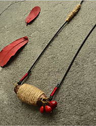 cheap -Choker Necklace Beaded Necklace Chains Women's Resin Unique Design Romantic Trendy Boho Cute Cool Red 90 cm Necklace Jewelry for Street Gift Daily Promise Festival / Long Necklace / Charm Necklace