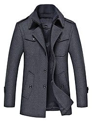 cheap -men's winter coat fleece lining wool jacket warm car coat xs 1108 navy