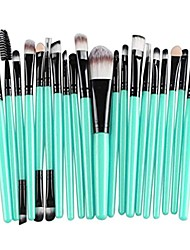 cheap -brush, 20pcs make-up toiletry kit wool make up brush set & #40;black& #41;