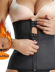 cheap -Body Shaper Sweat Waist Trimmer Sweat Waist Trainer Corset Sports Spandex Yoga Gym Workout Pilates Adjustable Durable Weight Loss Tummy Fat Burner Hot Sweat For Women