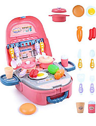 cheap -play food set for girls 2 -4 pretend kitchen toy for kids birthday gift cooking playsets role play toy with pink backpack