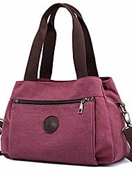 cheap -hobo handbags canvas crossbody bag for women, multi compartment tote purse bags (purple coffee)