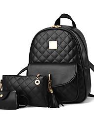 cheap -women's backpack 3-pieces fashion pu leather shoulder bags fashion ladies travel bookbag blue