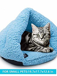 cheap -cozy cat cuddle cave bed, pet tent cave bed with anti slip bottom for small dog cat kitty puppy animals, soft warm fleece cat sleeping bag dog slipper bed burrow house hole igloo triangle cat nest
