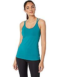 cheap -women's seamless two-in-one bra tank top, amazon exclusive, scuba green, xx-large