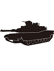 cheap -New Tank Self Adhesive Wall Stickers Creative Children's Room Bedroom Office Wall Decoration