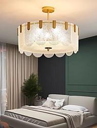 cheap -60 cm Semi Flush Mount Ceiling Light Gold Modern Luxury Glass Metal Warm White+White+Neutral Light 110-120V 220-240V