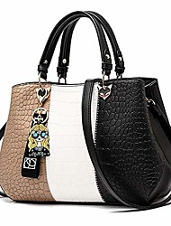 cheap -handbags for women fashion ladies purses pu leather satchel shoulder tote bags (black2)