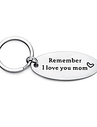 cheap -remember i love you mom keychain from daughter or son, mother's birthday