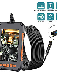 cheap -10m Endoscope Camera 1080P 8mm HD 4.3'' Screen Professional Dual Lens Inspection Camera Handheld Snake Camera with 8 LED IP68 Waterproof 10M