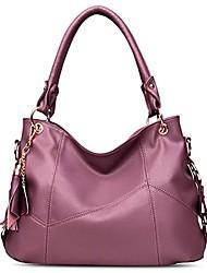 cheap -women's leather tote handbags shoulder hobo purses top handle tassel cross-body bag