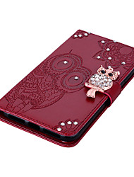 cheap -Case For Apple scene map iPhone 12 11 Pro Max XS Max dot diamond owl pattern embossed flip leather case PU material can insert card leather case phone case