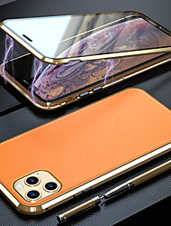 cheap -Leather Magnetic Case For Apple iPhone 11 New Design Clear Leather Back Glass Front Magnet 360 Protection Leather Case / Mobile Phone Case / Protective Case for iPhone 11 Pro / iPhone 11 ProMax