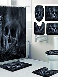 cheap -Halloween Pyscho Pattern PrintingBathroom Shower Curtain Leisure Toilet Four-Piece Design