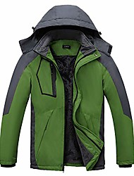 cheap -men's snow jacket waterproof ski jackets windproof mountain rain jacket green