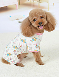 cheap -Dog Pajamas Stars Casual / Daily Winter Dog Clothes Breathable Blue Pink Green Costume Cotton S M L XL XXL