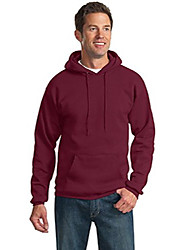 cheap -port & company mens tall ultimate hooded sweatshirt, cardinal, x-large tall