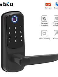 cheap -Intelligent Lock /Zinc Alloy lock / Fingerprint Code Lock/ Card Lock Smart Home Security System RFID / Password Unlocking / Mechanical key Household / Office Others / Wooden Door / Bluetooth App WiFi