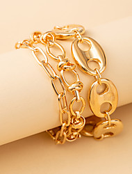 cheap -Leg Chain Classic Vintage Punk Women's Body Jewelry For Anniversary Party Evening Link / Chain Alloy Lucky Gold Silver 3pcs
