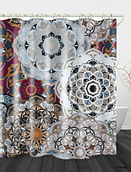 cheap -Big flower Print Waterproof Fabric Shower Curtain for Bathroom Home Decor Covered Bathtub Curtains Liner Includes with Hooks