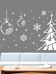 cheap -Christmas Decorations / Snow Christmas Tree Wall Stickers Holiday Wall Stickers Decorative Wall Stickers PVC Home Decoration Wall Decal Window Decoration 1pc