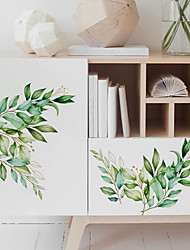 cheap -Botanical Wall Stickers Plane Wall Stickers Decorative Wall Stickers PVC Home Decoration Wall Decal Wall / Window Decoration 1pc Wall Stickers for bedroom living room