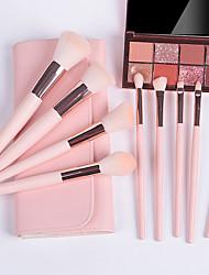 cheap -9 Pcs Makeup Brush Set Pink Makeup Tools Full Set Of Beauty Brush Loose Powder Blush Brush Eye Shadow Brush